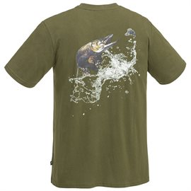 "Pinewood Fishing T-Shirt ""gedde"", olive"