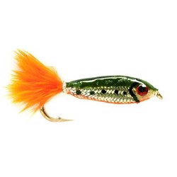 Minnow fly green/silver, put & take flue