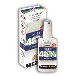 Travelsafe Deet 40% moskitospray, 60ml