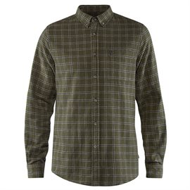 Fjällräven Övik Flannel Shirt Men, deep forest