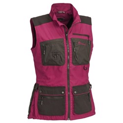 Pinewood New Dogsport vest dame, fuchsia/s.brown
