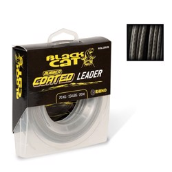 Black Cat Rubber Coated leader, 70kg