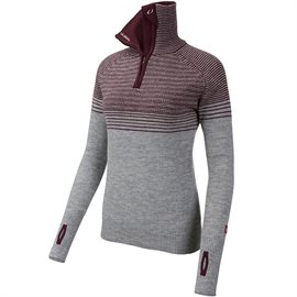 Ulvang Alta half zip Women, grey melange / fig