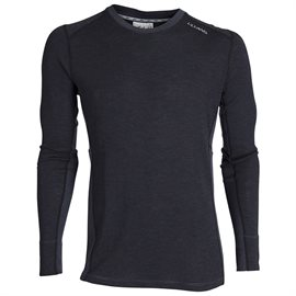 Ulvang Rav 100% round neck man, black/granite