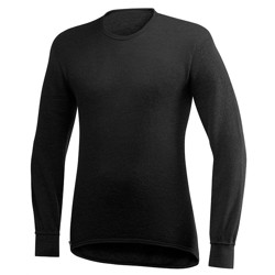 Woolpower Crewneck 200, sort